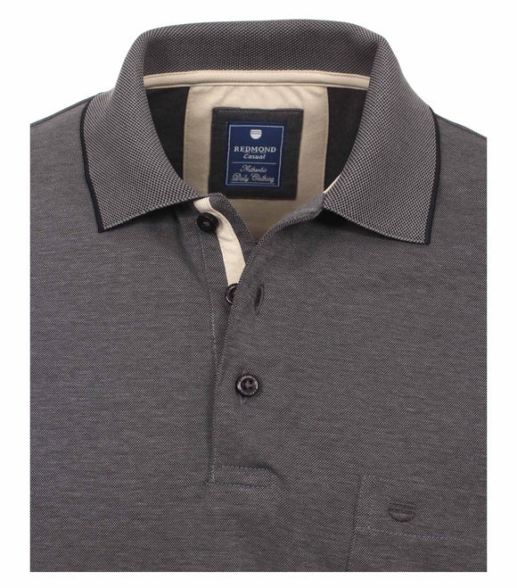 Redmond Poloshirt, regular fit, wash & wear, anthrazit