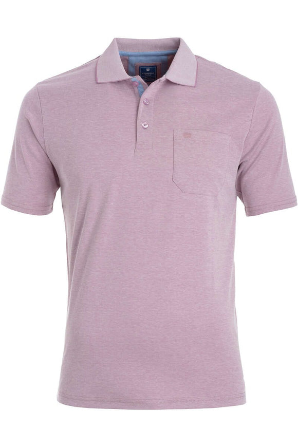 Redmond Poloshirt, regular fit, wash & wear, lila