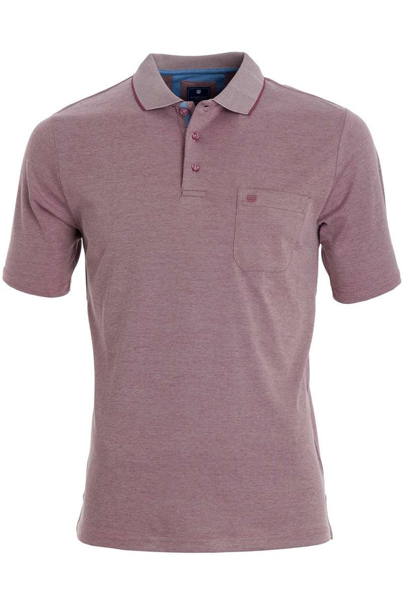 Redmond Poloshirt, regular fit, wash & wear, violett