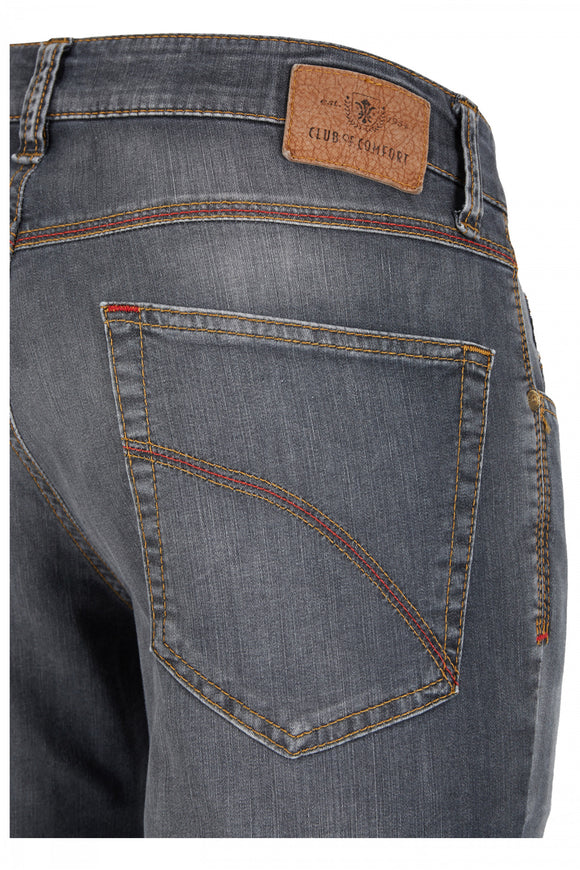 Club of Comfort, Super-High-Stretch-Jeans, mittelgrau used