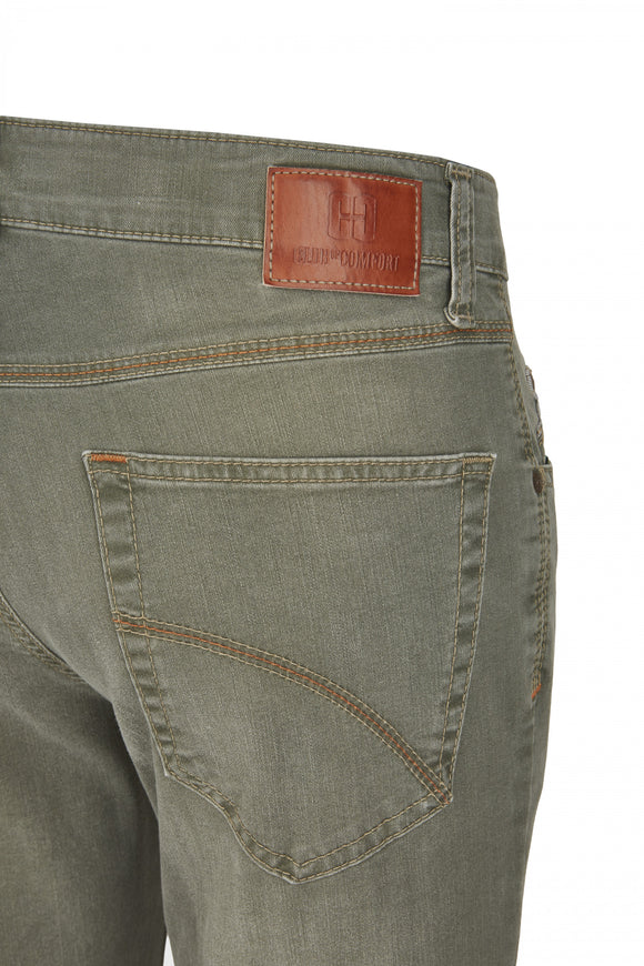 Club of Comfort, Super-High-Stretch-Jeans, mittelgrün used