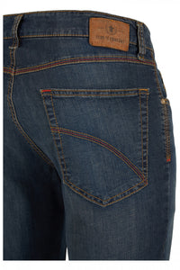 Club of Comfort, Super-High-Stretch-Jeans, dunkelblau antique washed