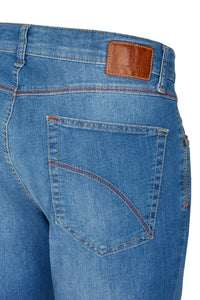Club of Comfort, Super-High-Stretch-Jeans, light blue used