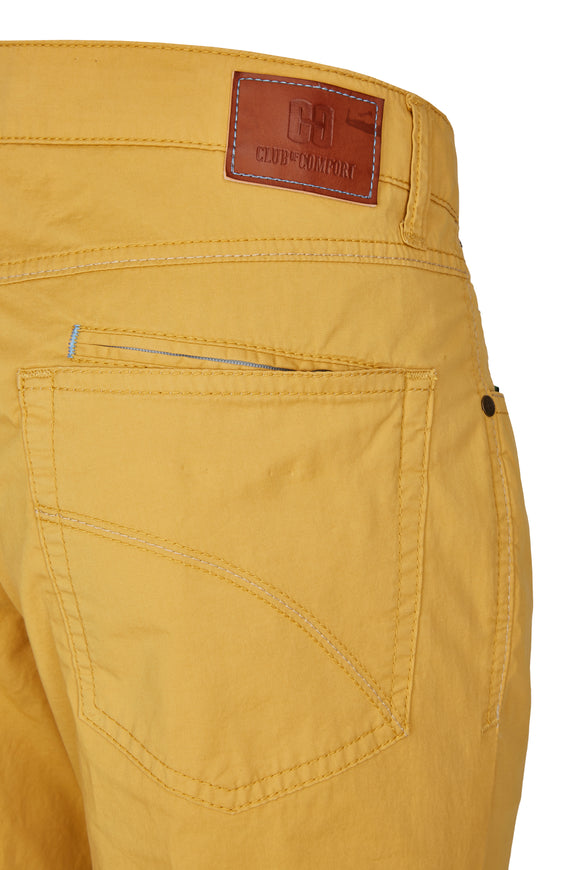 Club of Comfort, 5-Pocket, Pima Baumwoll-Gabardine, gelb