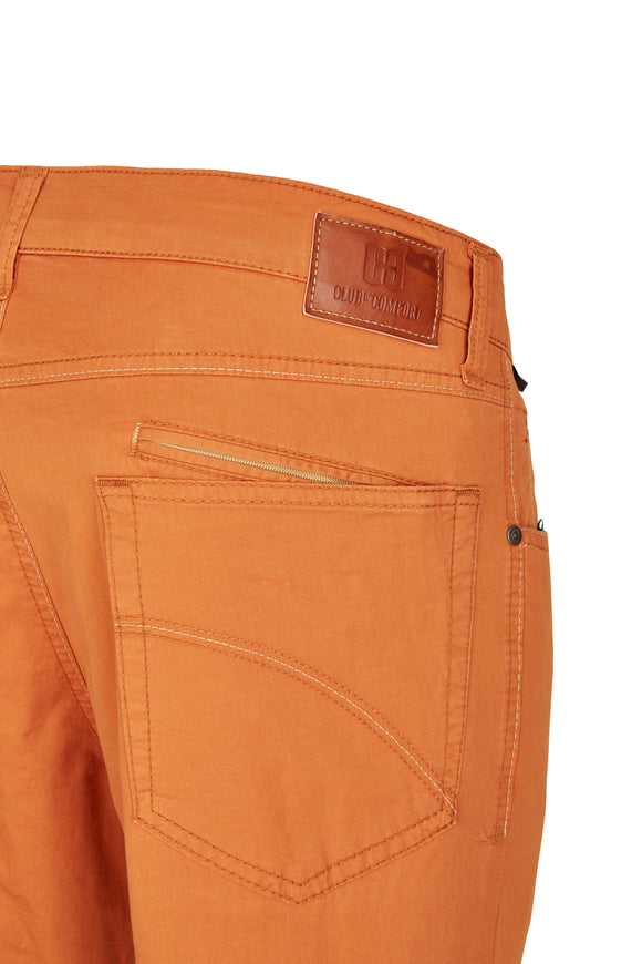 Club of Comfort, 5-Pocket, Pima Baumwoll-Gabardine, terracotta