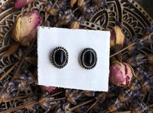 Load image into Gallery viewer, Onyx Stud Earrings No.1