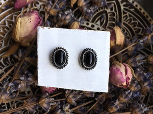 Onyx Stud Earrings No.1