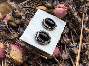 Onyx Stud Earrings No.2