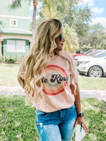 Be Kind Graphic Tee Peach