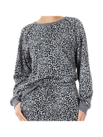 Leopard Lover Sweatshirt Gray