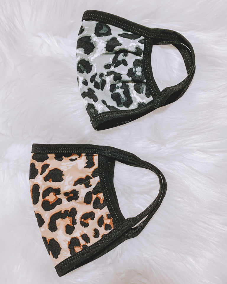 Face Mask Leopard Print (2 Pack)