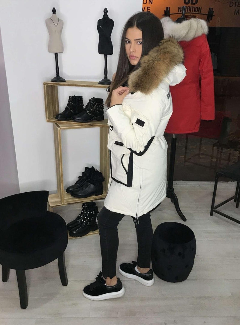 Parka LUXURY Blanche