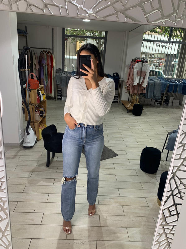 Jeans Mom/taille haute