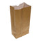 BROWN PAPER BAG 5LB DOUBLE WHITE INTERIOR ANTI-GREASE 5,25''x3,37''x10,8''  - 250 per pack