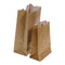 "BROWN PAPER BAG FOR FRENCH FRIES 3/4LB DOUBLE WHITE INTERIOR 3,5""x2,1""X5,75""- 250 per pack"