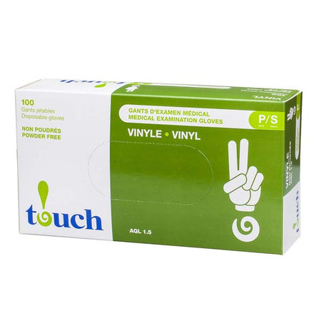 VINYL GLOVES POWDER-FREE SMALL - 100 per pack