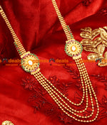 Trendy Four Line Flower Design With Big American Diamond Aaram