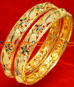 Enamel Mango Bangles for Women