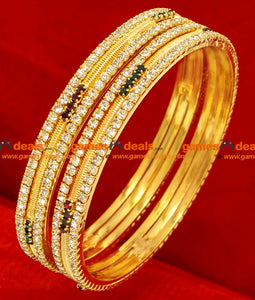 Party Wear 2 Pieces Stone Bangles