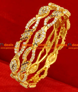 Gold Plated Stone Design Bangles