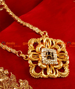 BGDR03 - Gold Plated Sprin Chain Design with Big AD Flower Dollar