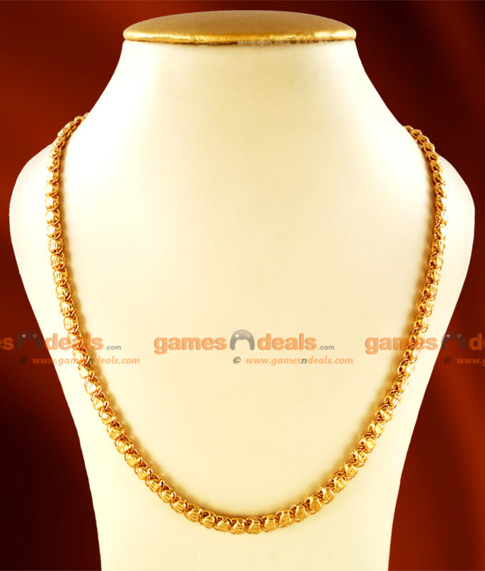 CHRT02 - Gold Plated Jewelry Heartin Design Thick Chain