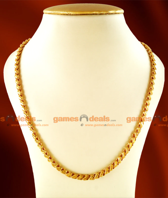 CHRT12 - Gold Plated Jewelry Sundari Design Thick Chain