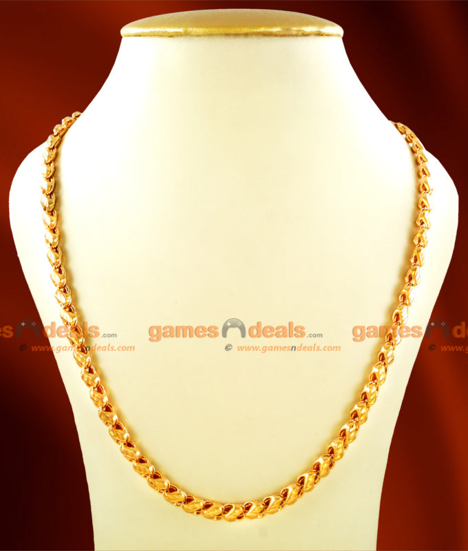 CHRT16 - Gold Plated Jewelry Sundari S Cut Design Chain