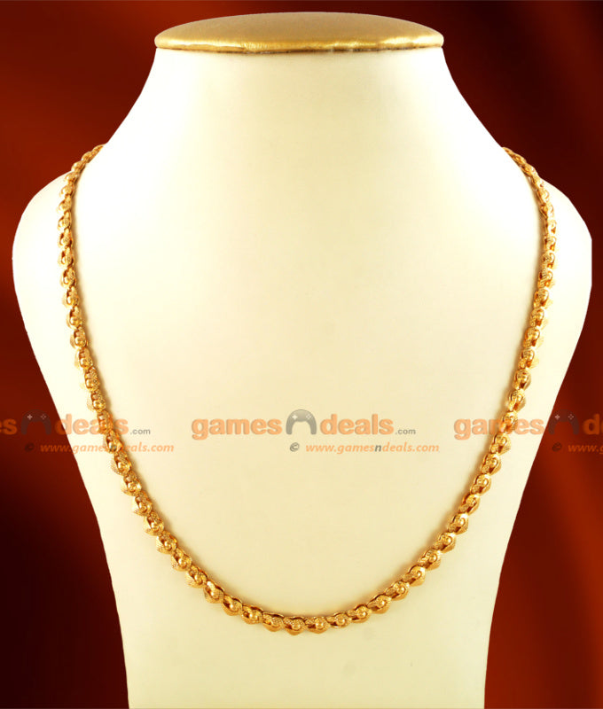 CKMN04 - Gold Plated Jewelry Kerala Heartin Mani Chain