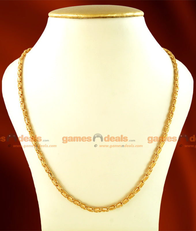 CKMN13 - Gold Plated Jewelry Interlock Spring Design Chain