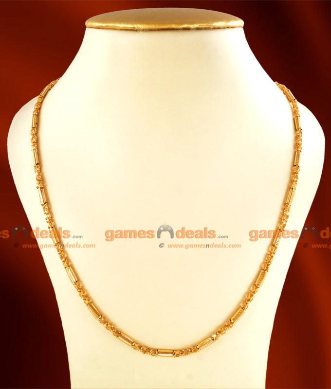 CKMN15 - Gold Plated Light Weight Spring Design Chain