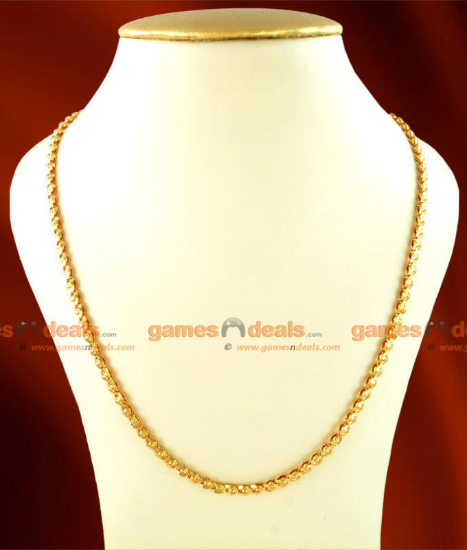 CKMN16 - Gold Plated Light Petal Balls Chain 24 inches