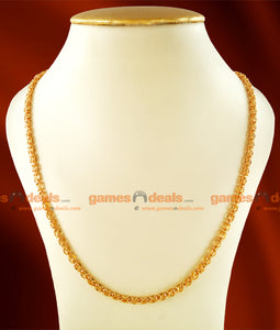 CKMN17 - Gold Plated Traditional Kerala Imitation Chain 24 inches Long