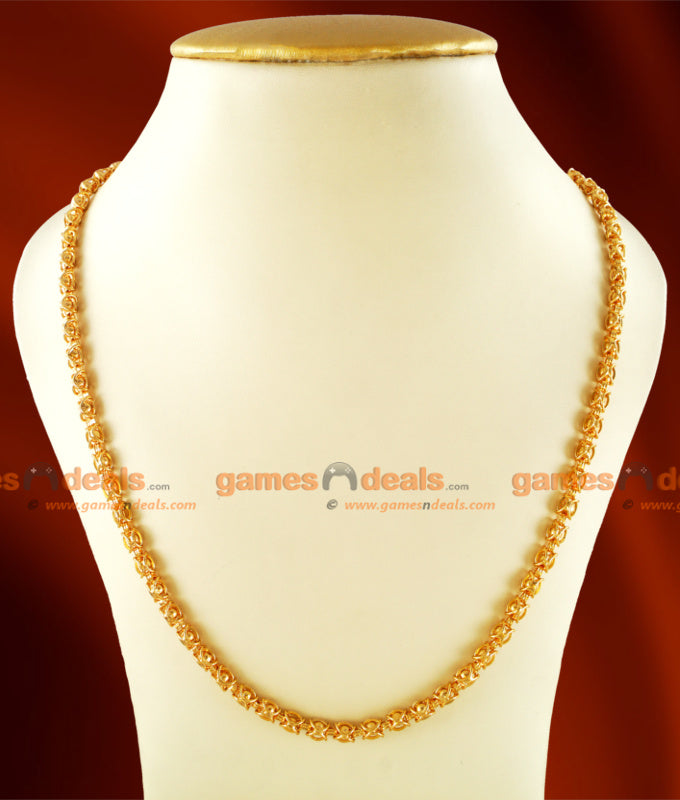 CKMN18 - Gold Plated Traditional Kerala Imitation Chain Ball Design