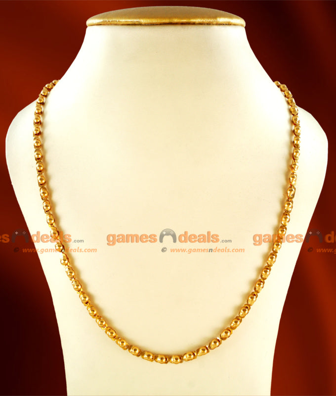 CKMN23 - 24 inches Gold Plated Chain Light Weight Kumil Design Shop Online