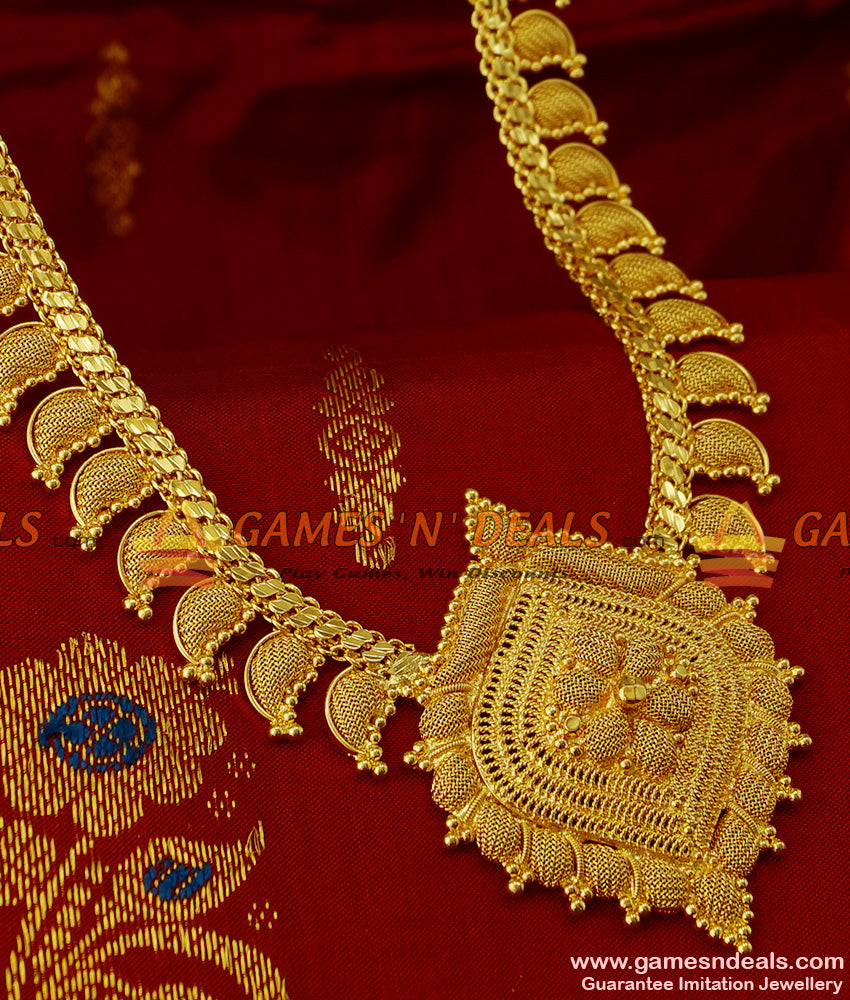 Maanga Malai Mango Design Long Necklace for Marriage Functions