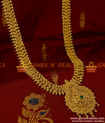 AD Stone Dollar Kerala Net Design Chain Long Necklace for Women