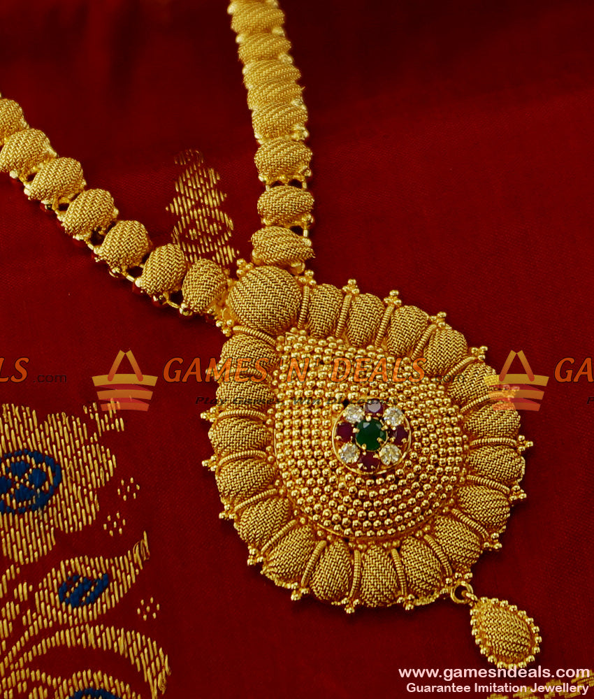 Good Looking Gold Tone Bridal Wear Imitation Necklace for Women and Girls
