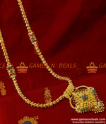 South Indian AD Stone Mugappu and Dollar Kerala Jasmine Chain Online