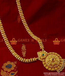 Gold Plated Imitation Jewellery Full Net AD Stone Dollar Design Bridal Haaram