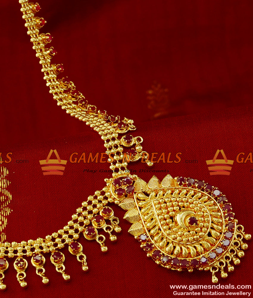 Attractive Bridal AD Stone Imitation Necklace South Jewelry Design Buy Online
