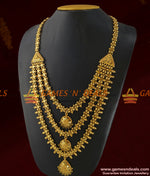 Grand Three Line Culcutta Bridal Wear Design Haram Imitation Jewelry