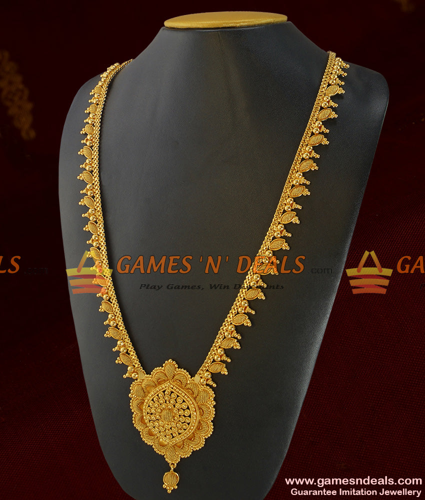South Indian Necklace Traditional Beaded Haaram Design Imitation Jewelry Online