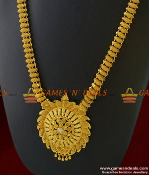 South Indian Necklace Traditional Beaded Haaram Design Imitation Jewelry