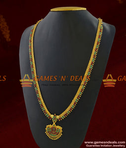 Sparkling Semi Precious Full MultiStone Gold Like Imitation Haaram