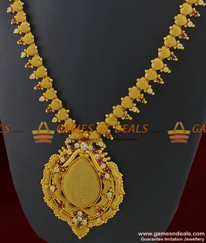 Full AD Stone Kerala Bridal Necklace for Women and Girls Online
