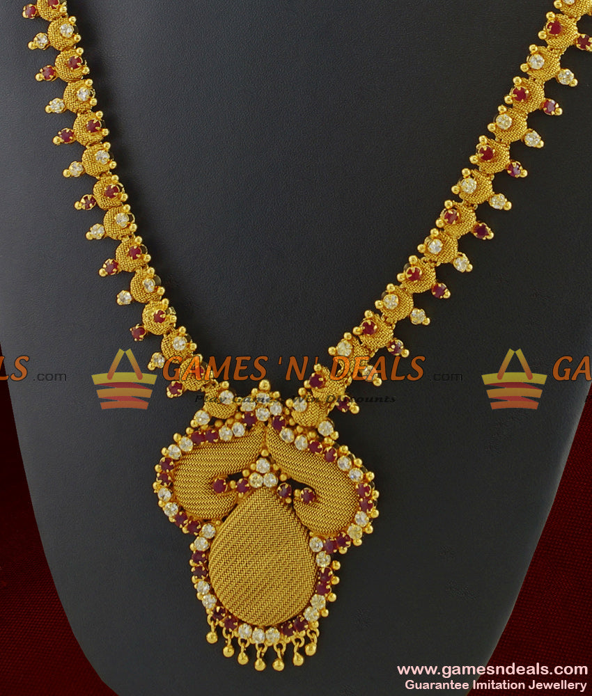 Kerala Bridal Full AD Stone Long Necklace for Women and Girls Online