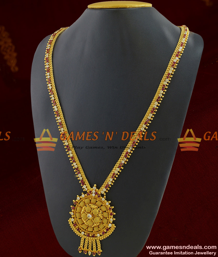 Chidambaram Covering Premium Gold Plated Bridal Necklace for Marriage