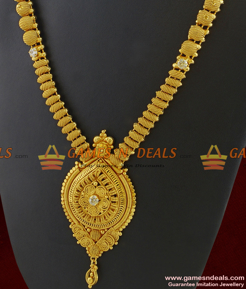 Gold Tone Imitation Necklace for Marriage Kerala Bridal Jewelry Online