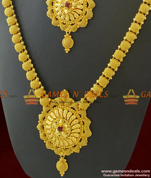 Grand Combo Bridal Set Haaram Necklace Guarantee Imitation Jewelry for Marriage